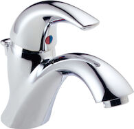 C SPOUT SINGLE HANDLE LAVATORY FAUCET, Chrome, medium