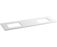 SOLID/EXPRESSIONS® 73-INCH VANITY TOP, White Expressions, medium