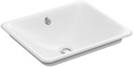 IRON PLAINS® WADING POOL® RECTANGULAR BATHROOM SINK WITH WHITE PAINTED UNDERSIDE, White, medium