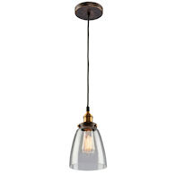 GREENWICH 1-LIGHT PENDANT, Bronze and Copper, medium