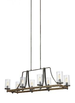 ANGELO 8-LIGHT CHANDELIER, Distressed Weathered Oak, large