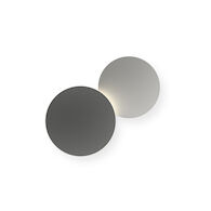 PUCK WALL ART DOUBLE 2700K LED WALL SCONCE LIGHT, 5481, Grey D1 and Grey L2, medium