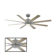 RENEGADE 52-INCH 3000K LED CEILING FAN, Graphite, medium