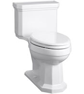 KATHRYN® COMFORT HEIGHT® COMPACT ELONGATED ONE-PIECE 1.28 GPF TOILET WITH AQUAPISTON® FLUSH TECHNOLOGY AND RIGHT-HAND TRIP LEVER, White, medium