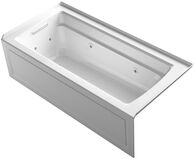 ARCHER® 66 X 32 INCHES WHIRLPOOL WITH INTEGRAL APRON, LEFT-HAND DRAIN AND HEATER, White, medium