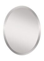 INFINITY OVAL MIRROR 22x28-INCH, Silver, medium