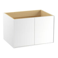 JUTE® 30-INCH WALL-HUNG BATHROOM VANITY CABINET WITH 2 DOORS, Linen White, medium