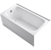 BANCROFT® 60 X 32 INCHES ALCOVE BATHTUB WITH INTEGRAL APRON AND INTEGRAL FLANGE, LEFT-HAND DRAIN, White, medium