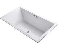 UNDERSCORE® RECTANGLE 72 X 42 INCHES DROP IN BUBBLEMASSAGE™ AIR BATHTUB WITH CENTER DRAIN, White, medium
