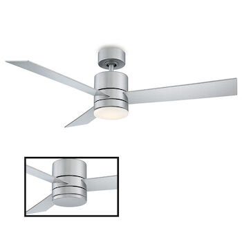 AXIS 52-INCH 3000K LED CEILING FAN, Titanium Silver, large