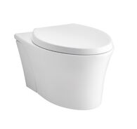 VEIL® ONE-PIECE ELONGATED DUAL-FLUSH WALL-HUNG TOILET WITH REVEAL® QUIET-CLOSE™ SEAT, White, medium