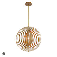 ABRUZZO 19-INCH ROUND PENDANT, 31873, Wood, medium