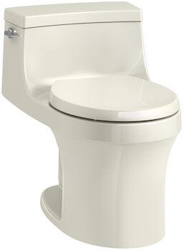 SAN SOUCI® ONE-PIECE ROUND-FRONT 1.28 GPF TOILET WITH AQUAPISTON® FLUSHING TECHNOLOGY, Biscuit, large