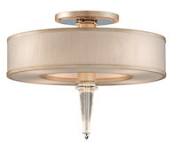 HARLOW 4-LIGHT SEMI-FLUSH LIGHT, Tranquility Silver Leaf, medium