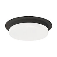 STOCKTON LED ROUND FLUSH MOUNT, Black, medium