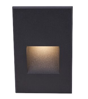 LEDme® VERTICAL STEP AND WALL LIGHT, Black, large