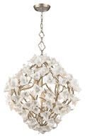 LILY 6-LIGHT PENDANT, Enchanted Silver Leaf, medium
