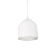 HELENA 8-INCH LED PENDANT LIGHT, White/Silver, medium