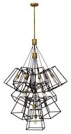 FULTON 13-LIGHT MULTI-TIER CHANDELIER, Bronze, medium
