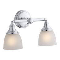 DEVONSHIRE 2-LIGHT SCONCE, Polished Chrome, medium