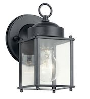 1-LIGHT OUTDOOR WALL LIGHT, Black, medium