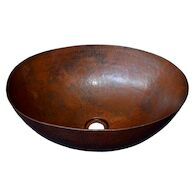 MAESTRO OVAL VESSEL BATHROOM SINK, CPS69, Antique Copper, medium
