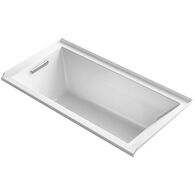 UNDERSCORE® RECTANGLE 60 X 30 INCHES ALCOVE BATHTUB WITH INTEGRAL FLANGE AND LEFT-HAND DRAIN, White, medium