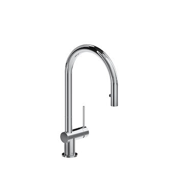 AZURE KITCHEN FAUCET WITH 1-JET PULL DOWN SPRAY, Chrome, large