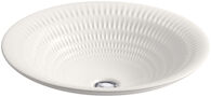 DERRING® ON CARILLON® ROUND WADING POOL® BATHROOM SINK, Translucent White, medium