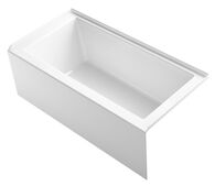 UNDERSCORE® 60 X 30 INCHES ALCOVE BATHTUB WITH INTEGRAL APRON AND INTEGRAL FLANGE AND RIGHT-HAND DRAIN, White, medium