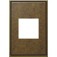ADORNE 1-GANG CAST METAL WALL PLATE, Aged Brass, medium