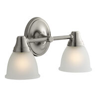 FORTÉ 2-LIGHT SCONCE, Vibrant Brushed Nickel, medium