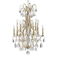CRAWFORD 12-LIGHT CHANDELIER, 9329, Aged Brass, medium