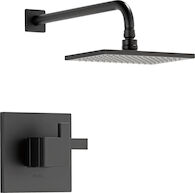 SIDERNA TEMPASSURE THERMOSTATIC SHOWER ONLY TRIM, Matte Black, medium
