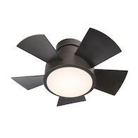VOX 26-INCH 3000K LED FLUSH MOUNT CEILING FAN, Bronze, medium