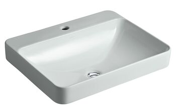 VOX® RECTANGLE VESSEL BATHROOM SINK WITH SINGLE FAUCET HOLE, Ice Grey, large