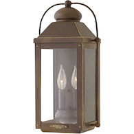 ANCHORAGE MEDIUM WALL MOUNT LANTERN, Light Oiled Bronze, medium