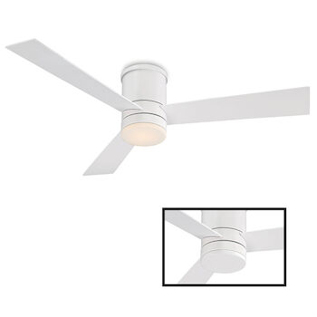 AXIS 52-INCH 3000K LED FLUSH MOUNT CEILING FAN, Matte White, large
