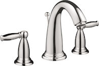 SWING C WIDESPREAD FAUCET WITH LEVER HANDLES, Chrome, medium