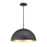 YOLO LED PENDANT, Black and Gold Leaf, medium