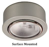 ROUND XENON LOW VOLTAGE BUTTON LIGHTS, Brushed Nickel, medium