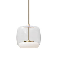 ENKEL SINGLE LED PENDANT, Clear/Vintage Brass, medium