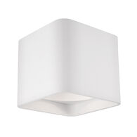 FALCO SQUARE LED FLUSH MOUNT LIGHT, White, medium