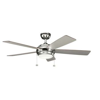 STARKK 52-INCH FAN, Polished Nickel, large