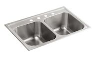 TOCCATA™ 33 X 22 X 9-1/4 INCHES TOP-MOUNT DOUBLE-EQUAL KITCHEN SINK, Stainless Steel, medium