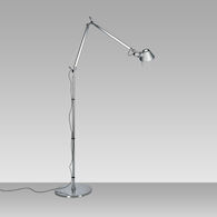 TOLOMEO MICRO LED FLOOR LAMP, Aluminum, medium