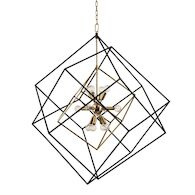ROUNDOUT 12-LIGHT PENDANT, 1234, Aged Brass, medium
