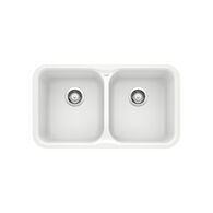 VISION UNDERMOUNT DOUBLE BOWL KITCHEN SINK, White, medium