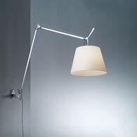 TOLOMEO MEGA WALL LAMP, Aluminum/Parchment, medium