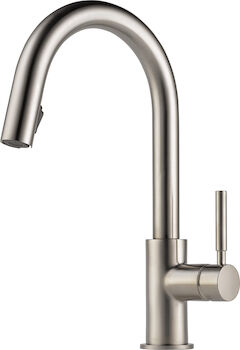 SOLNA SINGLE HANDLE PULL DOWN KITCHEN FAUCET, Stainless Steel, large